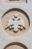 Símbolo Fira Santorini de la iglesia Fotografía de archivo