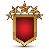Símbolo geométrico de oro calificado, estrellas estilizadas Fotografía de archivo libre de regalías