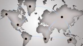 Símbolo global del establecimiento de una red Foto de archivo