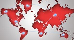 Símbolo global del establecimiento de una red Imagenes de archivo