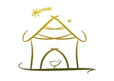Símbolo/icono modernos de la natividad Foto de archivo libre de regalías