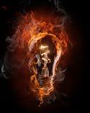 Símbolo inflamado Imagen de archivo libre de regalías