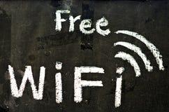 Símbolo libre del wifi Fotografía de archivo