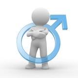 Símbolo masculino Fotos de archivo
