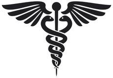 Símbolo médico del caduceo Foto de archivo libre de regalías