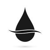 Símbolo negro del descenso del aceite Imagen de archivo libre de regalías