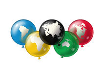 Símbolo olímpico Imagen de archivo libre de regalías