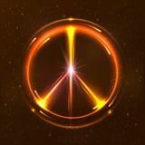 Símbolo pacífico brillante Imágenes de archivo libres de regalías