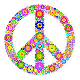 Símbolo pacífico no fundo branco Imagens de Stock Royalty Free