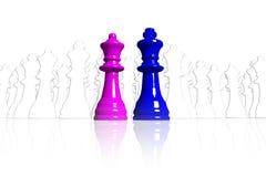 Símbolo para a igualdade entre o homem e a mulher Fotografia de Stock Royalty Free