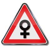 Símbolo para las mujeres y la feminidad Fotografía de archivo libre de regalías