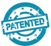 Símbolo patenteado redondo do selo Imagens de Stock