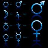 Símbolo, planeta Fotografia de Stock