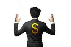 Símbolo prendido gerente do dólar Fotos de Stock