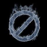 Símbolo prohibido que fuma Fotografía de archivo libre de regalías