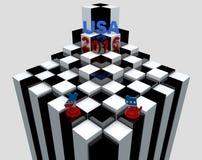 Símbolo republicano e democrático na forma da parte de xadrez Fotografia de Stock Royalty Free