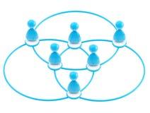 Símbolo social da rede como figuras humanas ligadas Fotografia de Stock