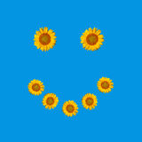 Símbolo sonriente de la cara Fotos de archivo