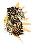 Símbolo tribal del caballo del Grunge Fotografía de archivo