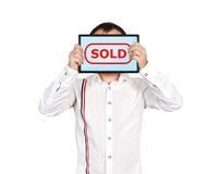 Símbolo vendido Imagenes de archivo