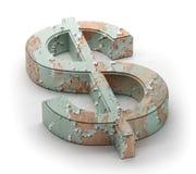 Símbolo verde del dólar Foto de archivo libre de regalías