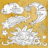 Símbolos celestiales 1 Fotos de archivo libres de regalías