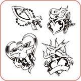 Símbolos cristianos - ejemplo del vector. Foto de archivo