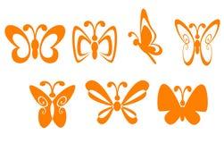 Símbolos da borboleta Imagens de Stock