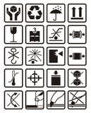 Símbolos da embalagem Imagens de Stock Royalty Free