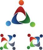 Símbolos da equipe dos povos Fotos de Stock Royalty Free