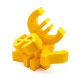 Símbolos da moeda Foto de Stock Royalty Free