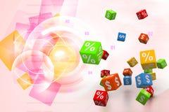 Símbolos da porcentagem Fotografia de Stock Royalty Free