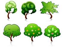 Símbolos da árvore Imagens de Stock