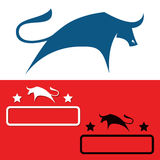 Símbolos de Bull Imagem de Stock