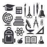 Símbolos de la educación y de la ciencia Imagen de archivo libre de regalías