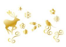 Símbolos de la Navidad Imágenes de archivo libres de regalías