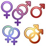 Símbolos de la sexualidad Fotografía de archivo