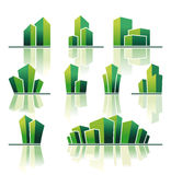 Símbolos de las propiedades inmobiliarias Imagen de archivo libre de regalías