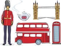 Símbolos de Londres Foto de archivo