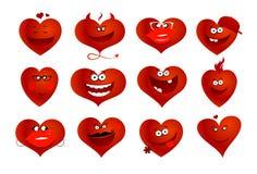 Símbolos de los corazones. Fotografía de archivo