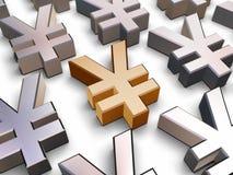 símbolos de los Yenes 3D Imagen de archivo