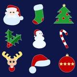 Símbolos de Navidad Imágenes de archivo libres de regalías