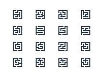 Símbolos del laberinto Fotos de archivo libres de regalías