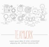 Símbolos del trabajo en equipo del negocio Fotografía de archivo