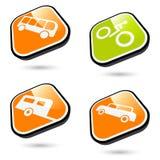 Símbolos del transporte Imagenes de archivo