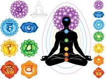 Símbolos do chakra Imagens de Stock