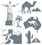 Símbolos do curso Imagens de Stock Royalty Free
