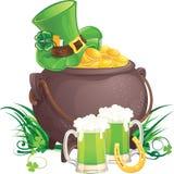 Símbolos do dia de Patrick de Saint Imagens de Stock Royalty Free