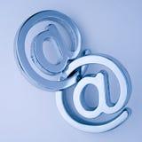 @ - símbolos do email Fotografia de Stock