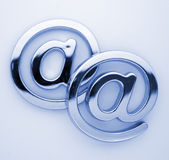 @ - símbolos do email Foto de Stock Royalty Free